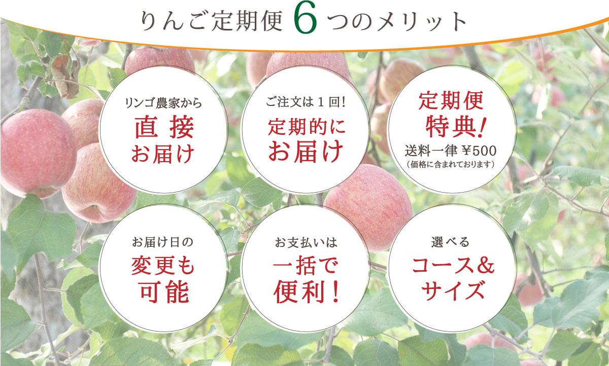 りんご定期便6つのメリット