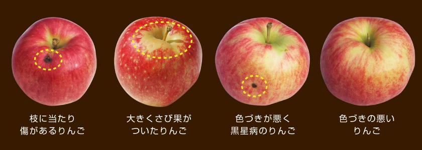 規格外りんご