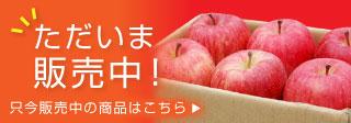 只今販売中のりんご