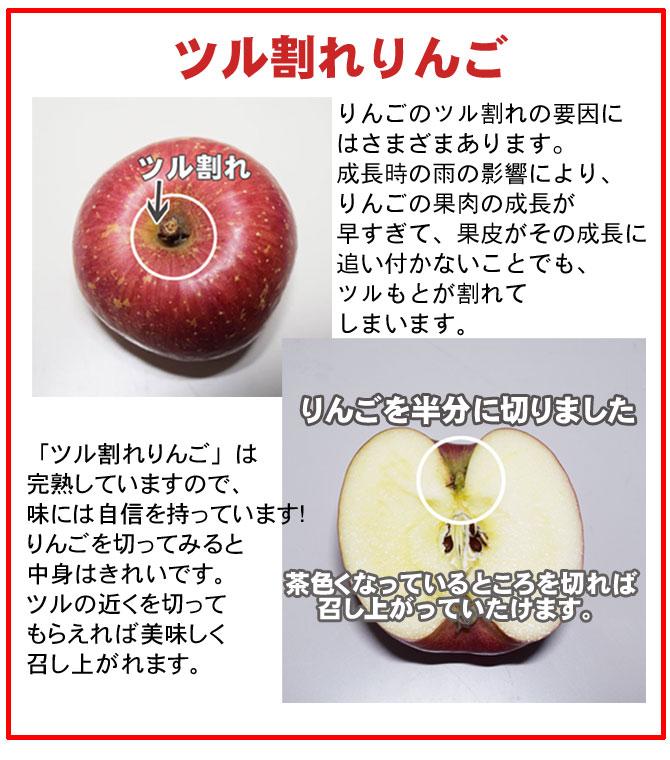 ツル割れりんご 「ツル割れりんご」は完熟していますので、味には自信を持っています!